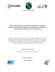 Manejo Sustentable de los Recursos Naturales en América Latina y ...