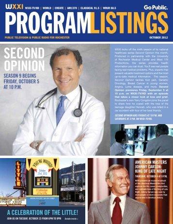Program Listings - WXXI