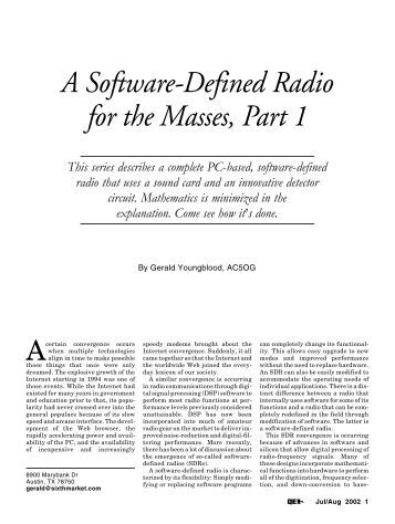 what is software defined radio? essay