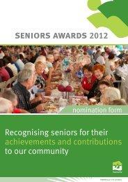 seniors awards 2012 - Townsville City Council