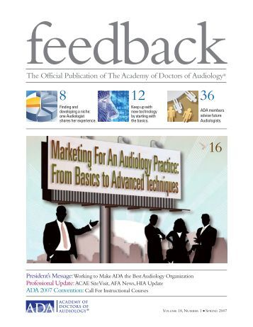 Feedback - Academy of Doctors of Audiology