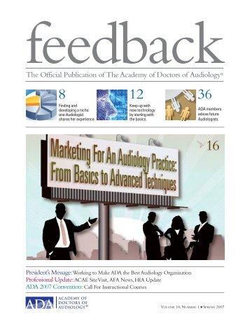 Feedback - Academy of Doctors of Audiology