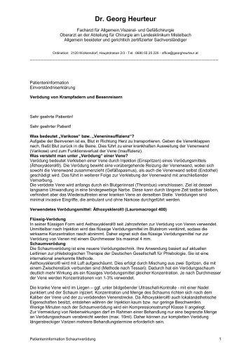Sklerosierung (PDF) - Dr. Georg Heurteur