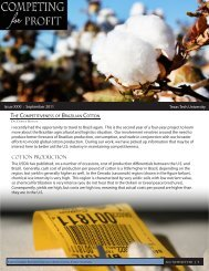 COTTON PRODUCTION - Texas Tech University