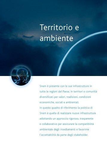Territorio e ambiente - Snam