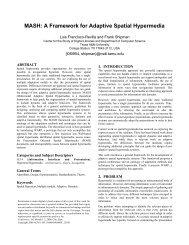 MASH: A Framework for Adaptive Spatial Hypermedia - CiteSeerX