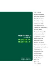 TABLE OF CONTENTS - Hannspree