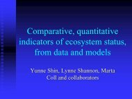 Comparative, quantitative indicators of ecosystem status ... - meece