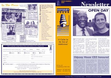 Odyssey House Newsletter 2009 Issue 1