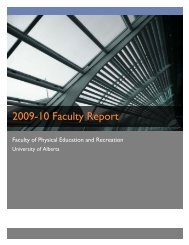 2009-10 Faculty Report - Faculty of Physical Education - University ...