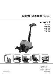 Mitgänger-Schlepper BT Movit (W-Serie) - Toyota Material Handling ...