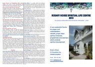 ROSARY HOUSE SPIRITUAL LIFE CENTRE 2013 - Sisters of Mercy ...