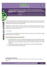 Aider les élèves à planifier leur production écrite