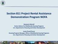 Section 811 Project Rental Assistance Demonstration ... - HUD