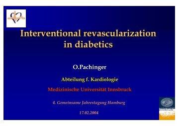 Interventional revascularization in diabetics