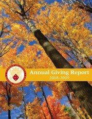 Annual Giving Report - Alvernia University