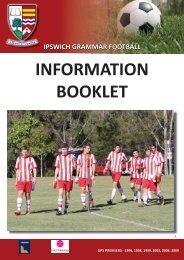 Football information booklet 2013.indd - Ipswich Grammar School