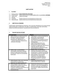 AMETIJUHEND 1. ÜLDOSA 1.1 Struktuuriüksus: RAHVATERVISE ...