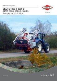 DELTIS 1000 & 1200 L ALTIS 1300, 1600 & 1800 L Rampes ... - Kuhn
