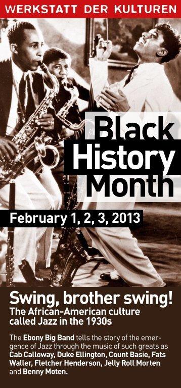 Black History Month - Werkstatt der Kulturen