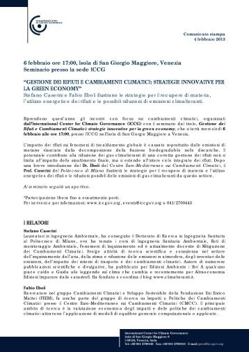 strategie innovative per la green economy [ pdf] - International ...
