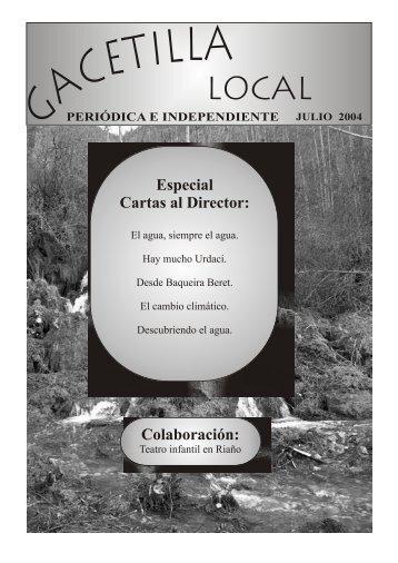 Especial Cartas al Director: Colaboración: - Revista Comarcal de la ...