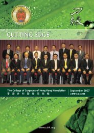 September 2007 - The College of Surgeons of Hong Kong