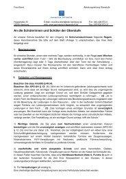 Fehlzeitenvertrag für die Oberstufe - Gymnasium Eppendorf