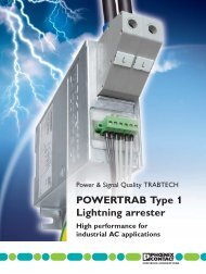 POWERTRAB Type 1 Lightning arresterHigh ... - Phoenix Contact