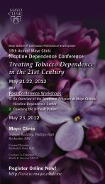 Treating Tobacco Dependence in the 21st Century - Mayo Clinic