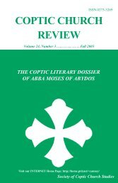 2003 Fall.Vol24.#3.pdf - Coptic Church Review
