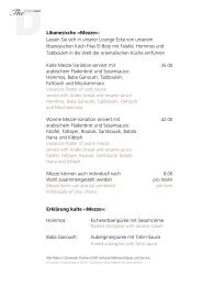 Libanesische ‹‹Mezze››: Lassen Sie sich in ... - The Dolder Grand
