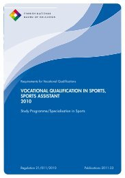 vocational qualification in sports, sports assistant 2010