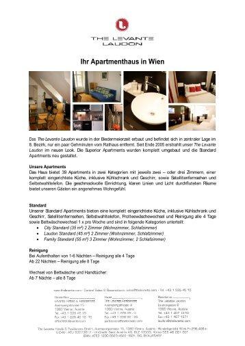Ihr Apartmenthaus in Wien - The Levante