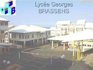 présentation lycée lycée professionnel - Lycée Georges Brassens