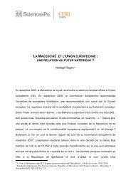 La Macédoine et l'Union européenne - Sciences Po