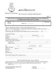 Occupazione temporanea suolo pubblico - Comune di Calenzano