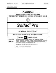 solfac pro residual insecticide - Agtech.com.au