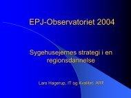 Den nationale it-strategi for sundhedsvæsenet ... - EPJ-Observatoriet