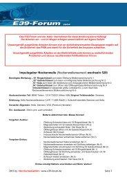 Impulsgeber Nockenwelle (Nockenwellensensor) wechseln 528i
