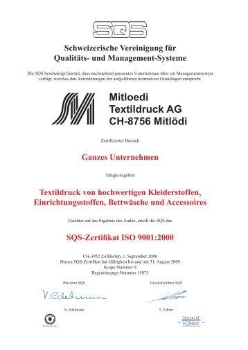 Mitloedi Textildruck AG CH-8756 Mitlödi