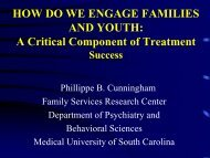 How Do We Engage Families and Youth - Mental Health Connection