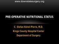Pre-operative Nutritional Status - Department of Surgery at SUNY ...