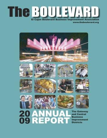 2009 Annual Report - El Cajon Boulevard Business Improvement ...