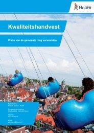 U kunt het kwaliteitshandvest downloaden. - Gemeente Hoorn