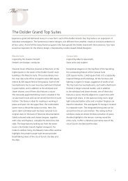 The Dolder Grand Top Suites