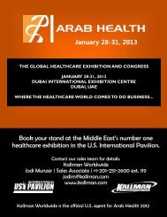 Book your stand at the Middle East's number one healthcare ...