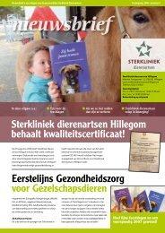 Nieuwsbrief 2006 nummer 3 - Sterkliniek Dierenartsen Hillegom