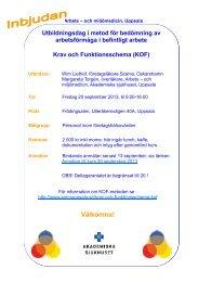 Program - Arbets- och miljömedicin   Uppsala