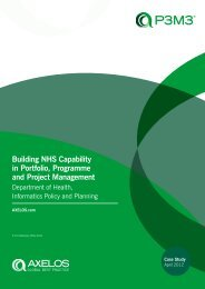 Building NHS Capability in Portfolio, Programme and Project ...
